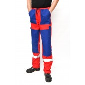 Overalls red-bue