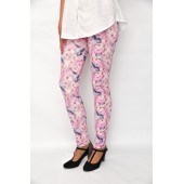 leggings pink flower