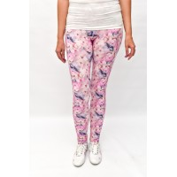 leggings pink flower