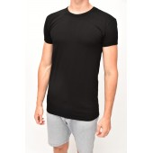 T-SHIRT WITH SHORT SLEEVES elastic