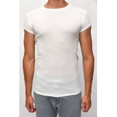 Thermo shirt short sleeve white