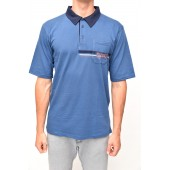 POLO SHIRT short sleeve blue