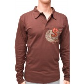 POLO  long sleeve brown S