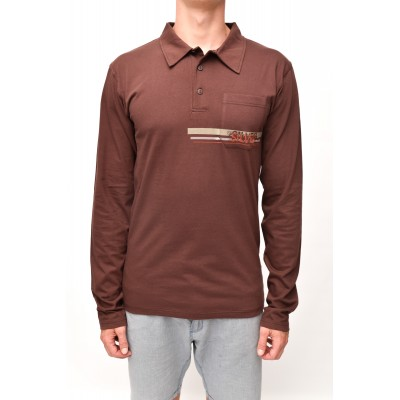 POLO SHOULDER long brown sleeve
